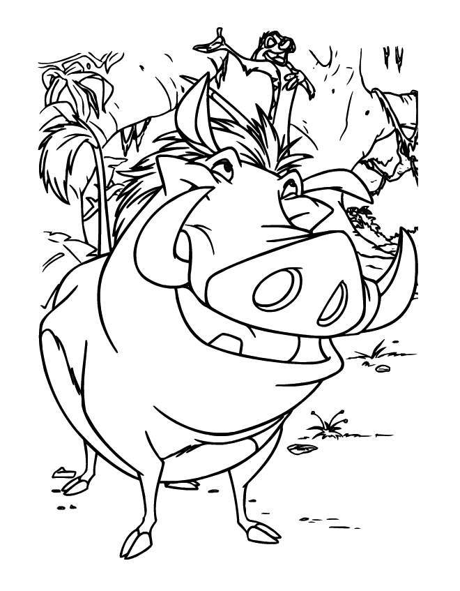 timon and pumba coloring pages - photo#36