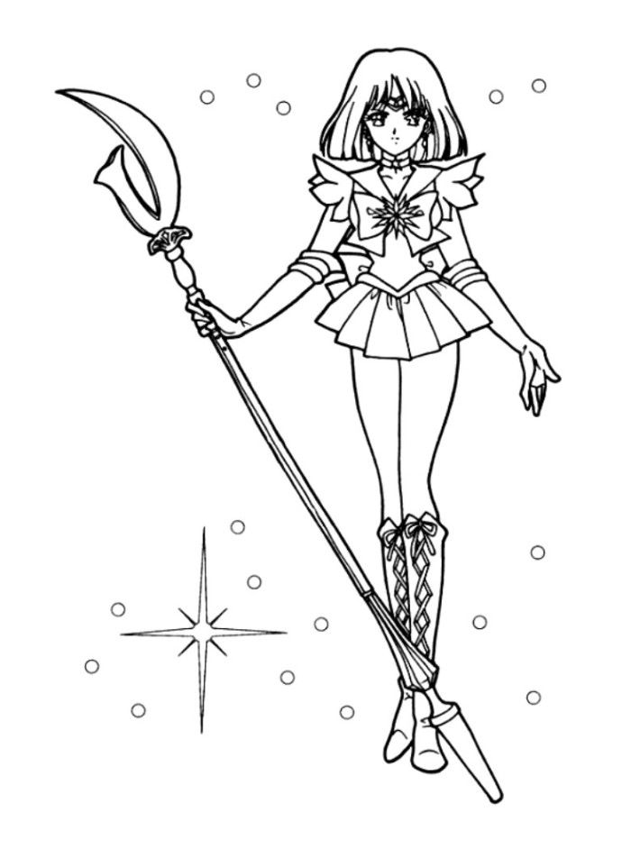 sailor moon coloring pages saturn - photo#2