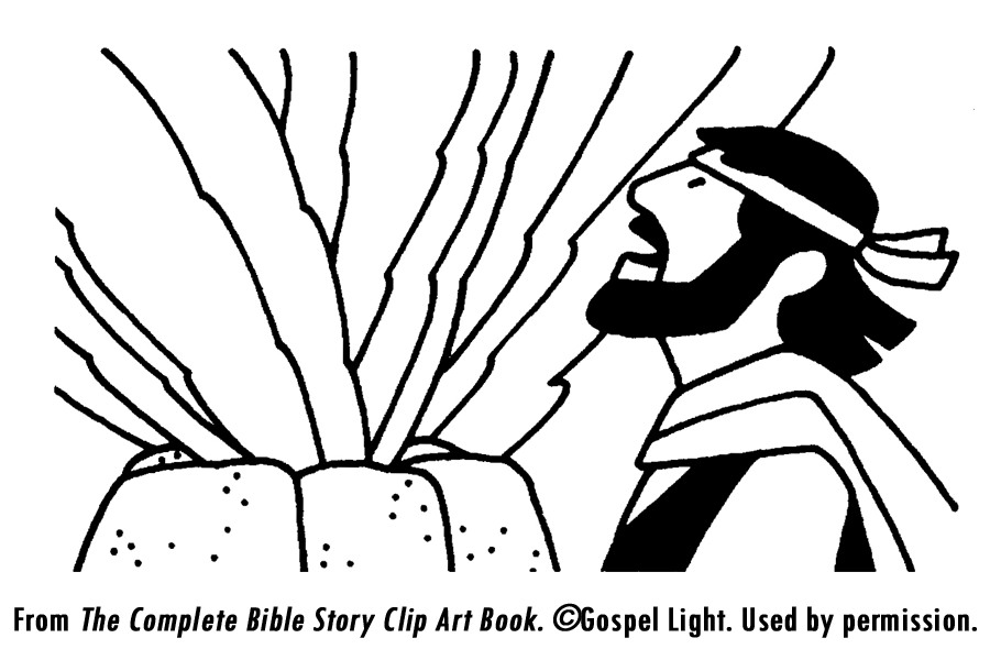 Elijah and the prophets of baal coloring page coloring home for Elijah baal coloring page