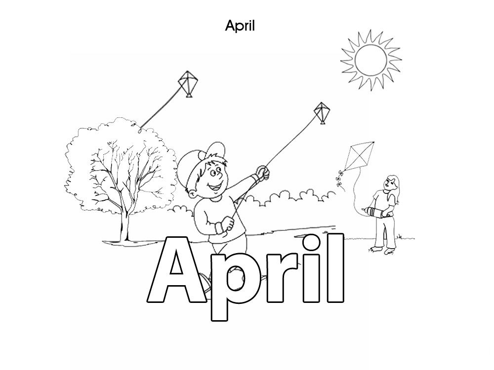 month of april coloring pages - photo#4