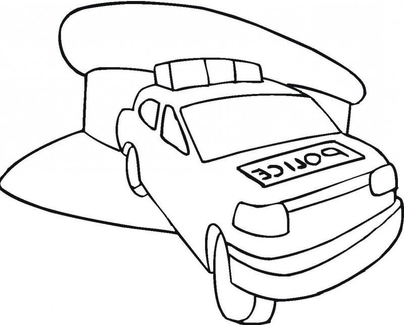 Police Car Coloring Pages For Kids  Coloring Home