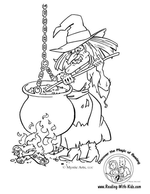 Witches Coloring Pages Coloring Home