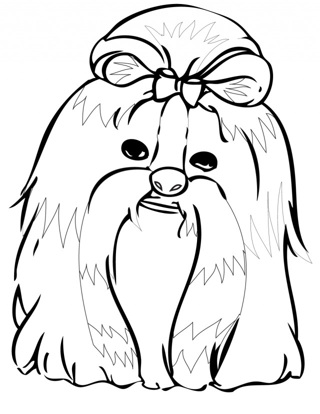 Shih Tzu Coloring Page Handipoints Cats And Dogs Coloring Pages