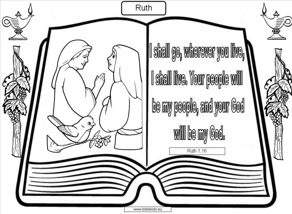 ruth naomi coloring pages coloring home