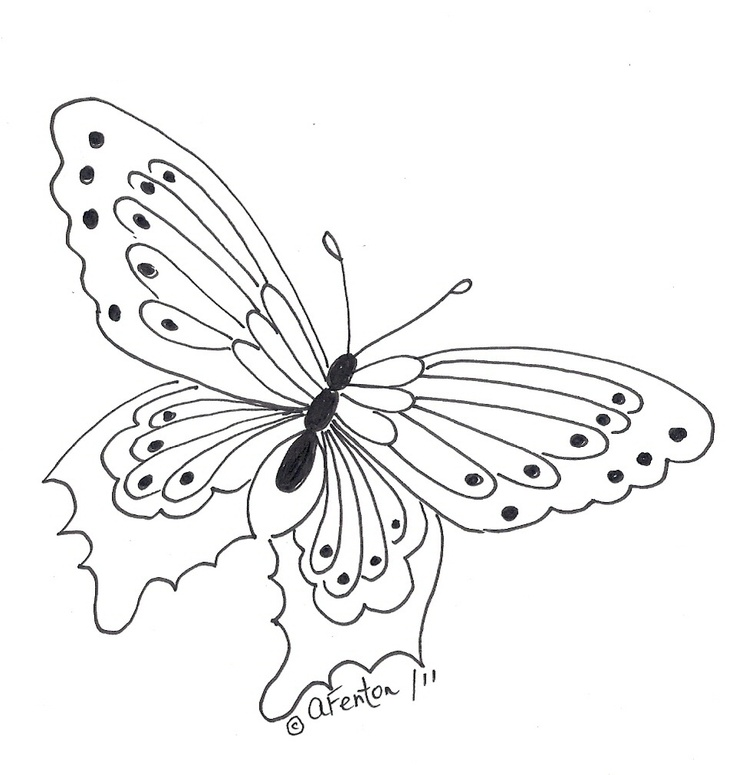 coloring pages painted lady butterfly - photo#10