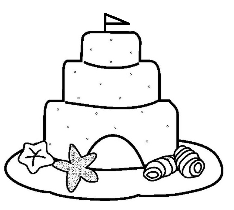 Sand Castle Coloring Page Az Coloring Pages Sandcastle Coloring Page
