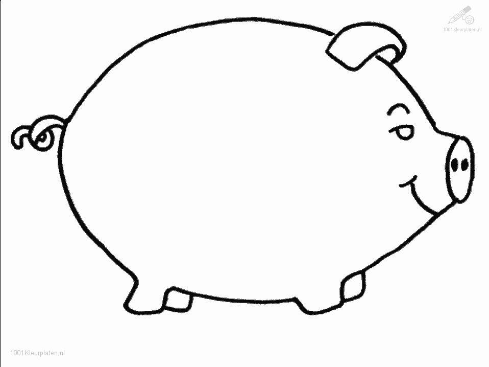 fat pig coloring pages for kids great coloring pages