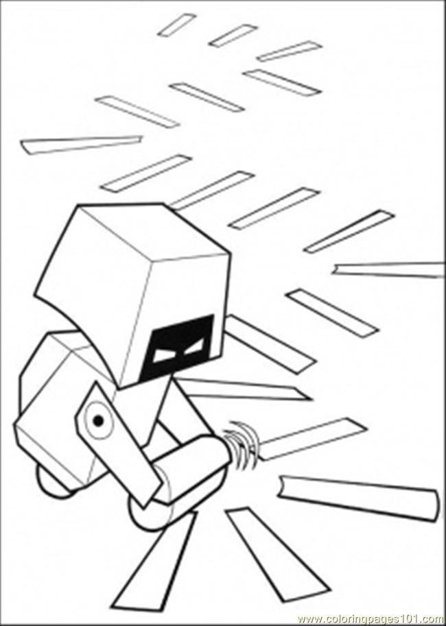 Coloring Pages Cleaning Robot 2 (Cartoons > Wall-E) - free