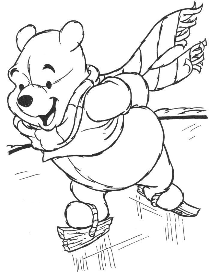 disney winter coloring pages - photo#6