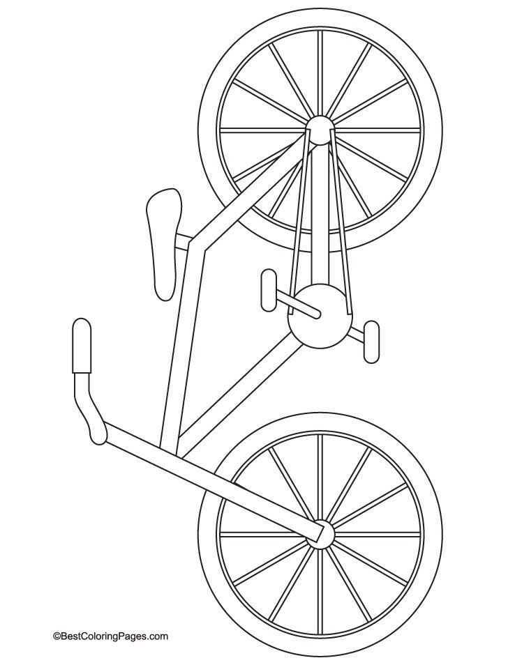 bike coloring pages - photo #4