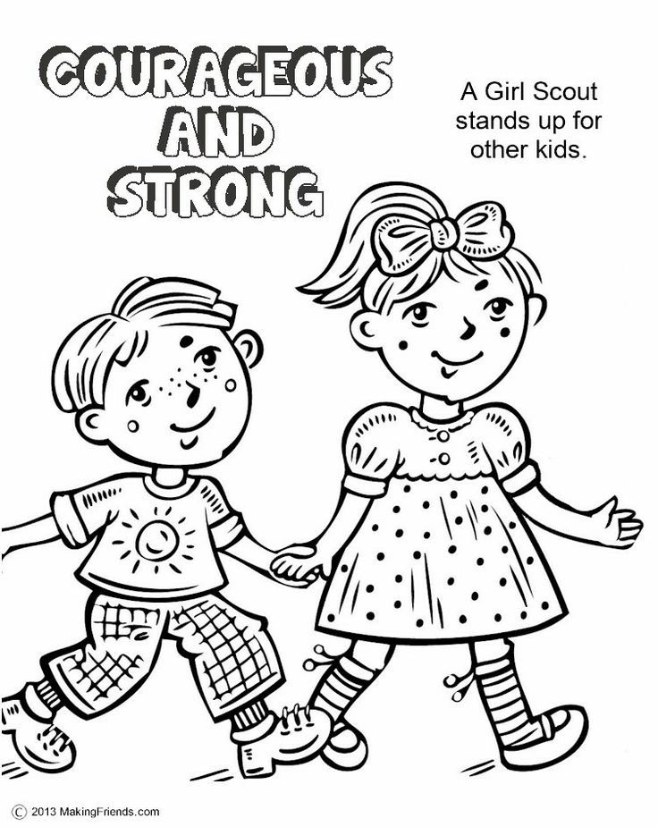Girl scout law coloring pages coloring home for Girl scout coloring pages for daisies