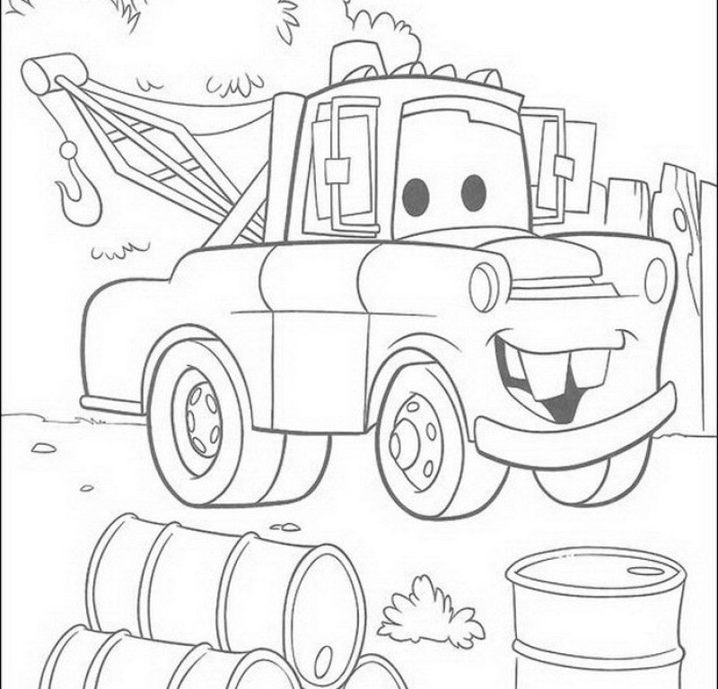 Mater Coloring Pages Coloring Home