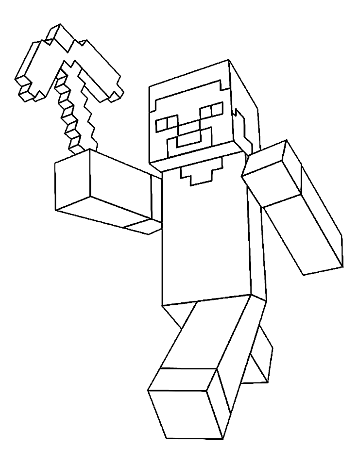 Minecraft Wonder Dragon Colouring Pages