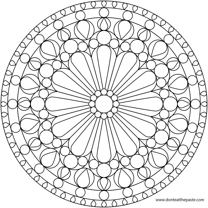 printable geomatric coloring pages - photo#4