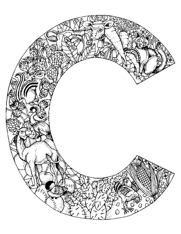 Coloring Pages Animals Letters : C coloring pages az