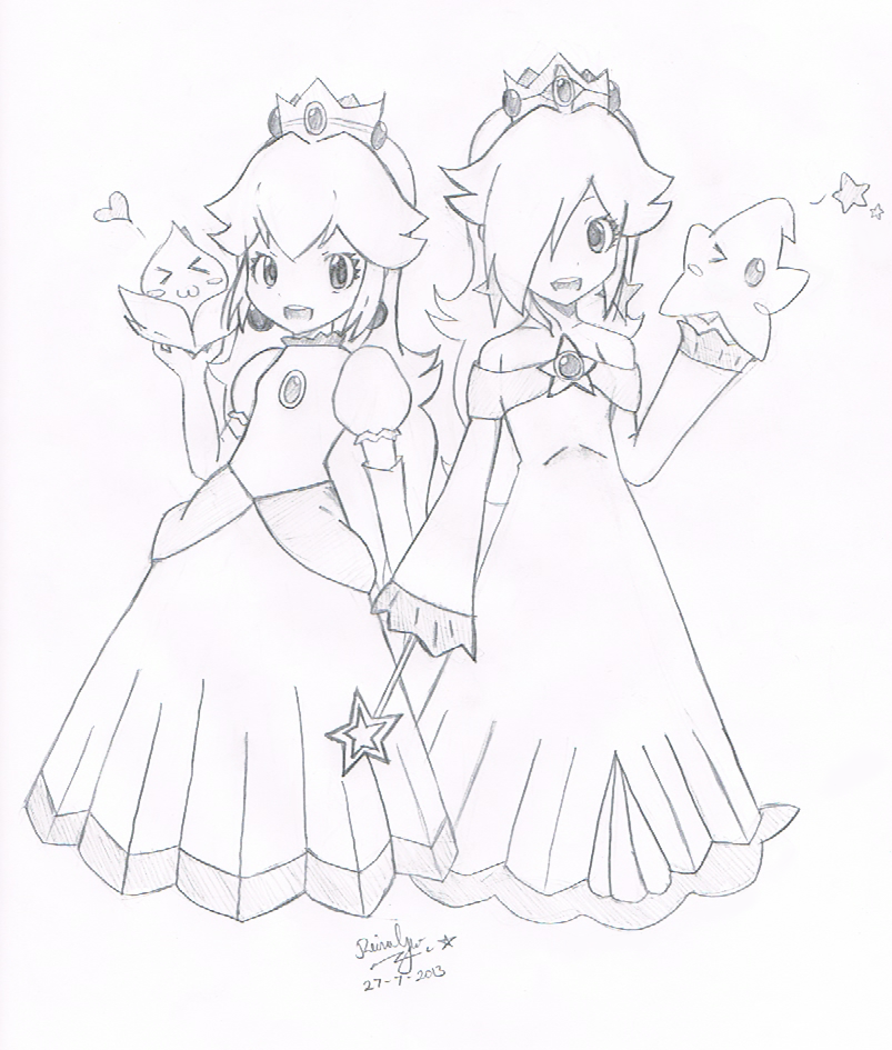 peach and daisy coloring pages - photo#14