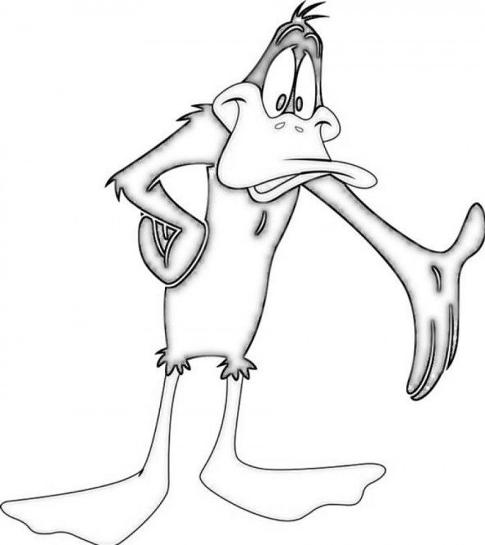daffy duck printable coloring pages - photo#8
