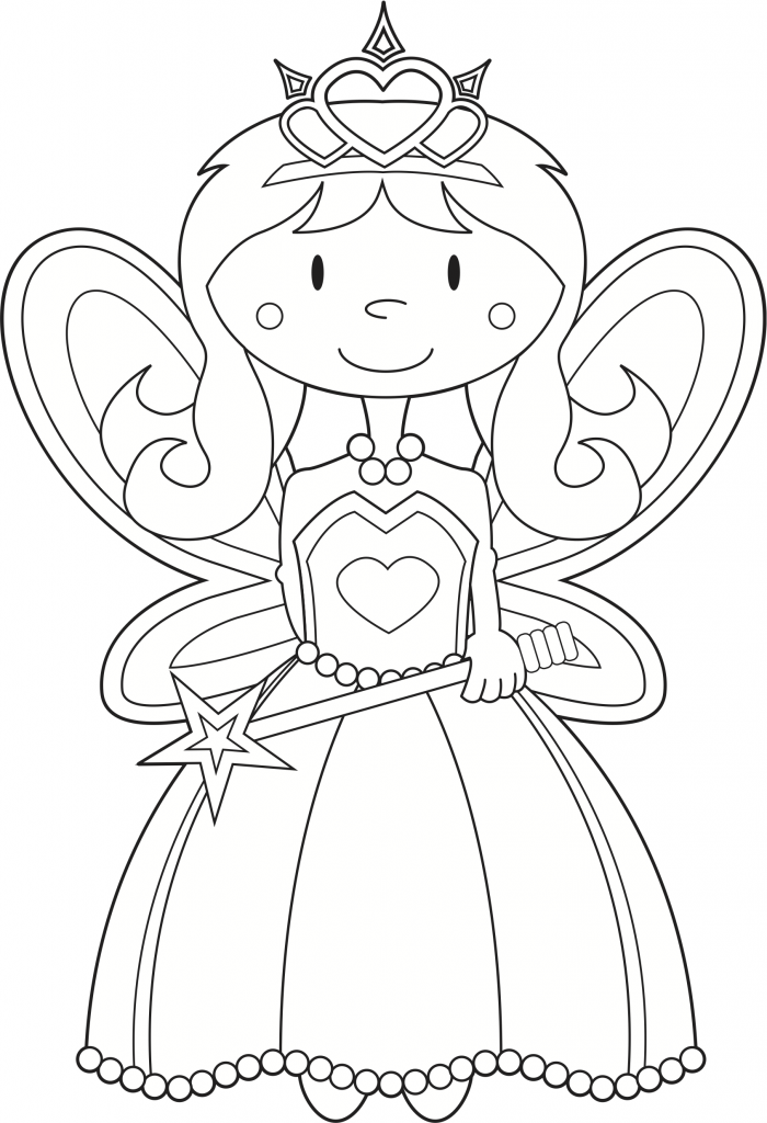 fairy princess coloring worksheet and song from kiboomu worksheets