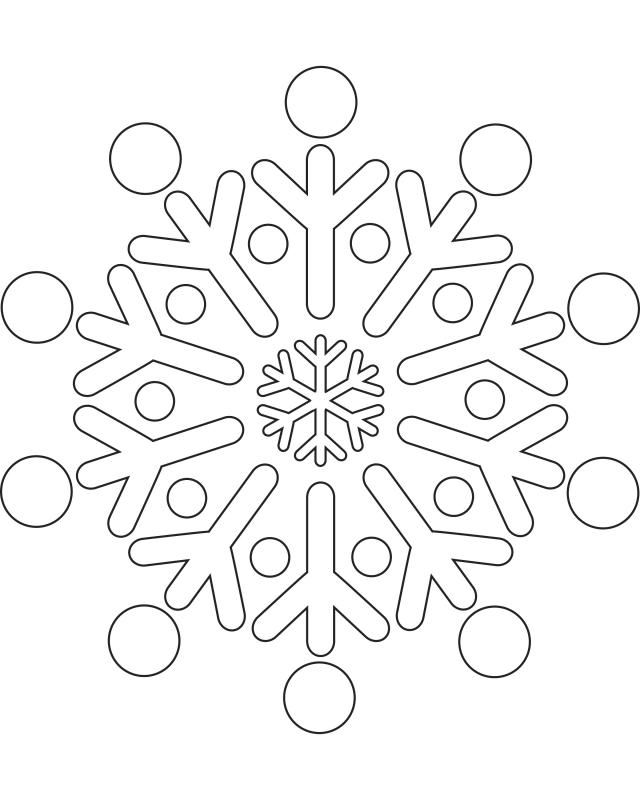 Snowflake template 3 - Free Printable Coloring Pages