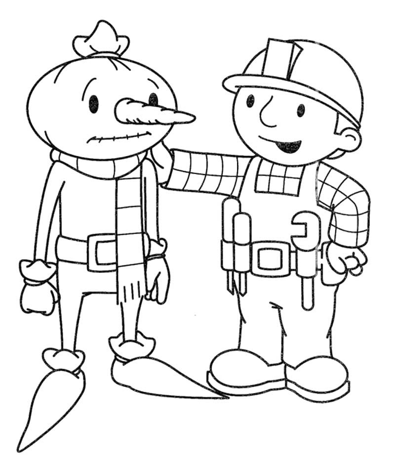 Bob The Builder Coloring Pages : Bob The Builder Encourage
