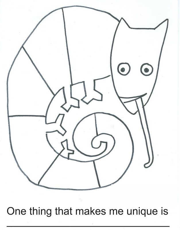 Mixed Up Chameleon Coloring Page - Coloring Home