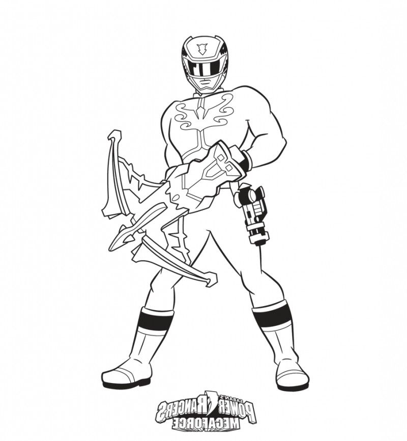Power Rangers Megaforce Coloring Page - Kids Colouring Pages ...