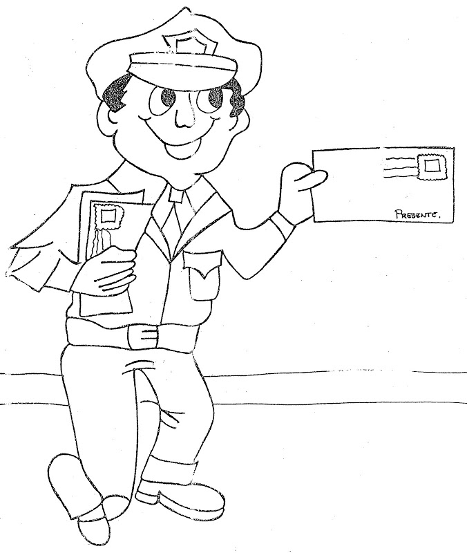 Mailman coloring page az coloring pages for Mailman coloring pages