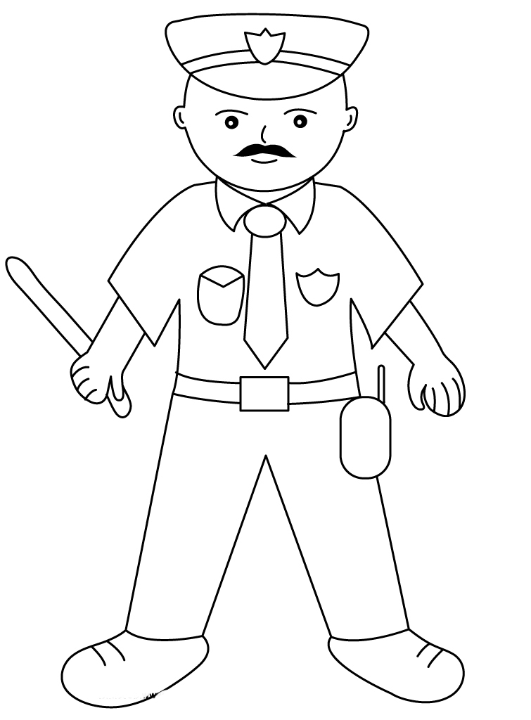 policeman coloring pages - photo#9