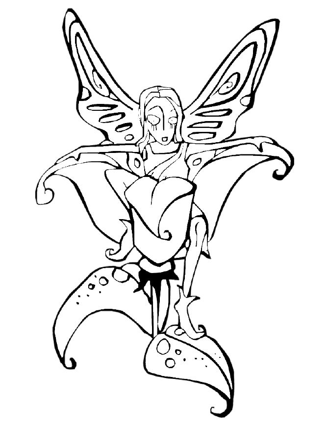 Fairies Coloring Pages (18) - Coloring Kids