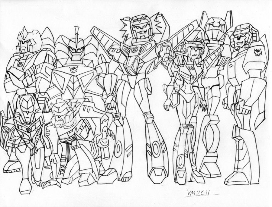 transformers coloring pages decepticons - photo#10