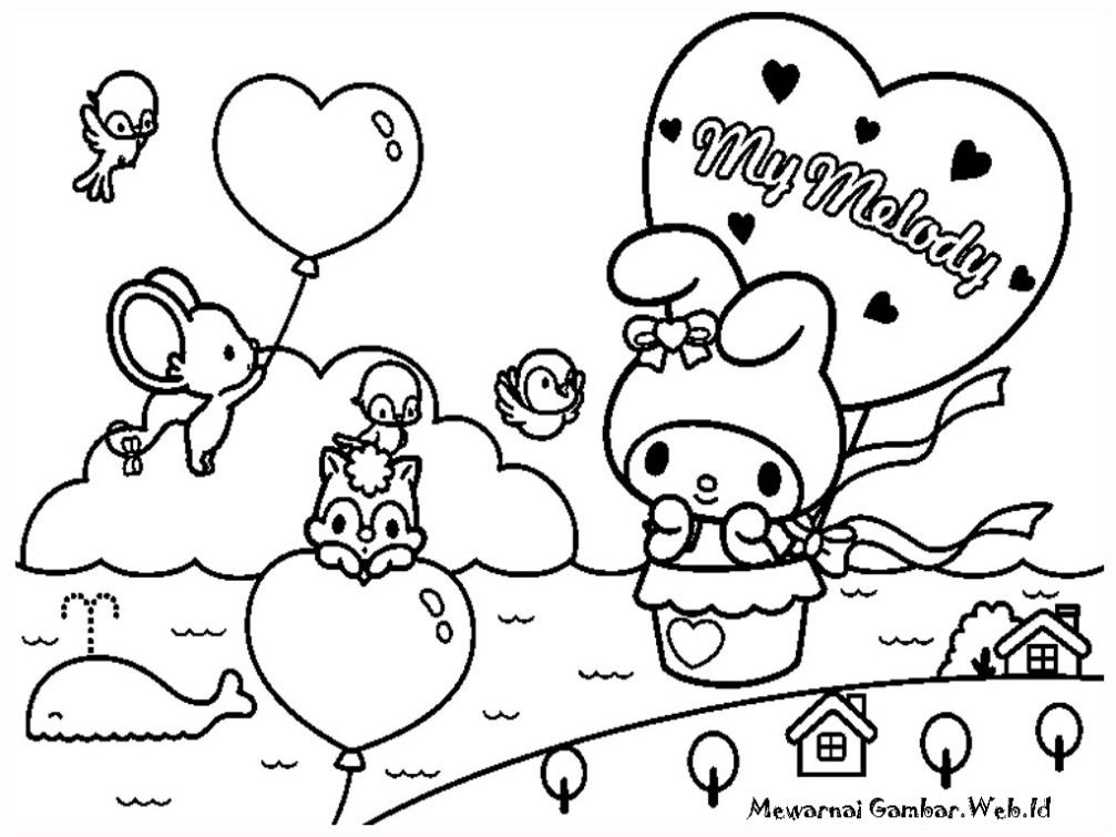 My Melody Coloring Page Printable Gallery  Kids Colouring Pages