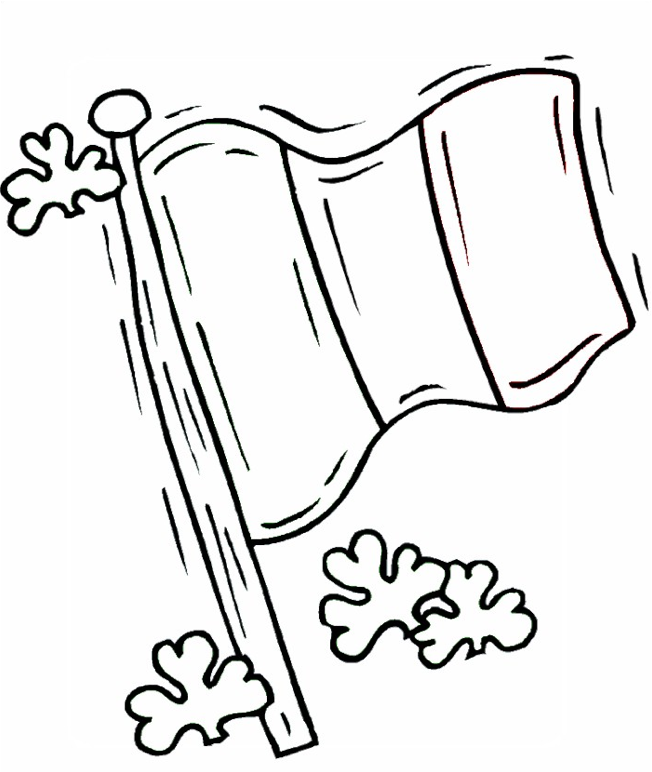 Irish Flag Coloring Page & Coloring Book