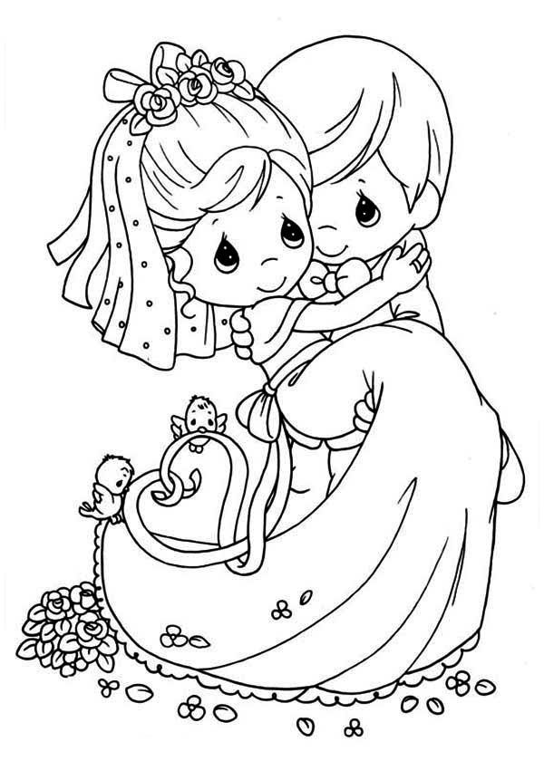 Download Wedding Coloring Pages 4. Wedding Just Married ...