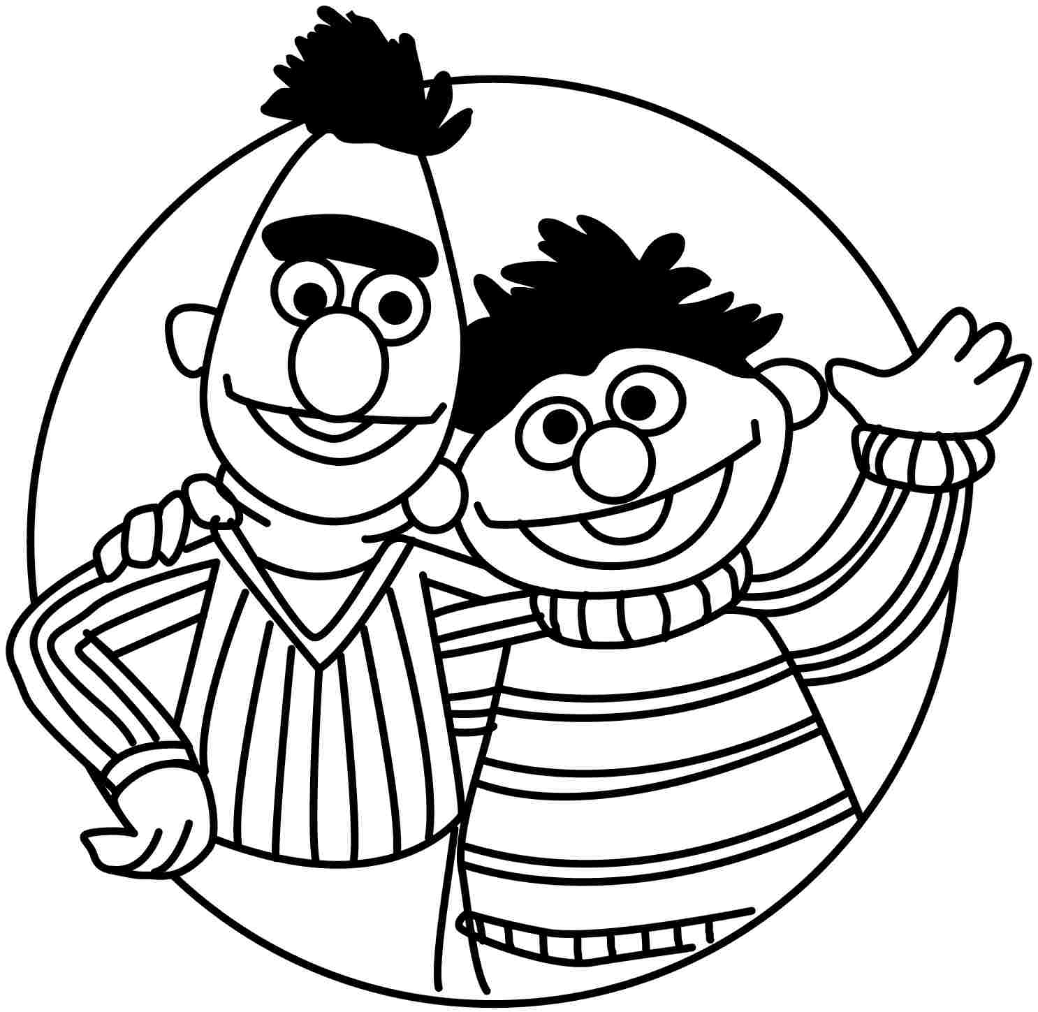 bert ernie coloring pages - photo#15