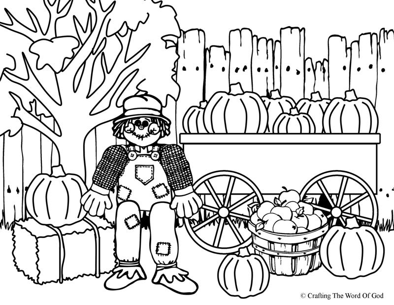 Free Scarecrow Coloring Pages