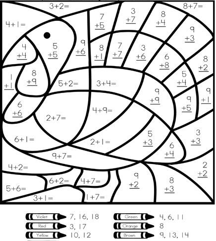 2nd Grade Math Color By Number Coloring Pages. Math Hard ...