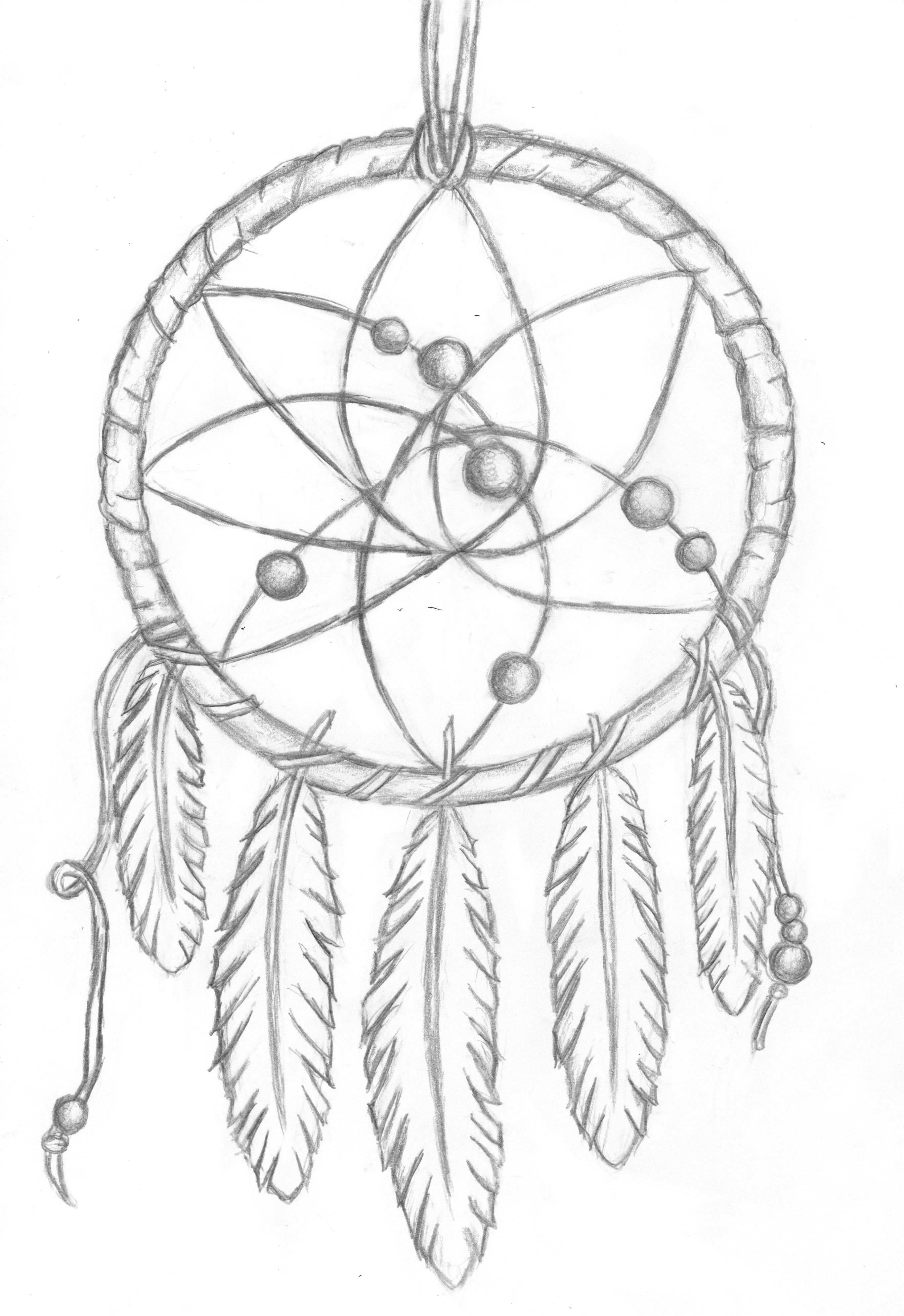 Dreamcatcher coloring pages coloring home for Dream catcher tattoo template