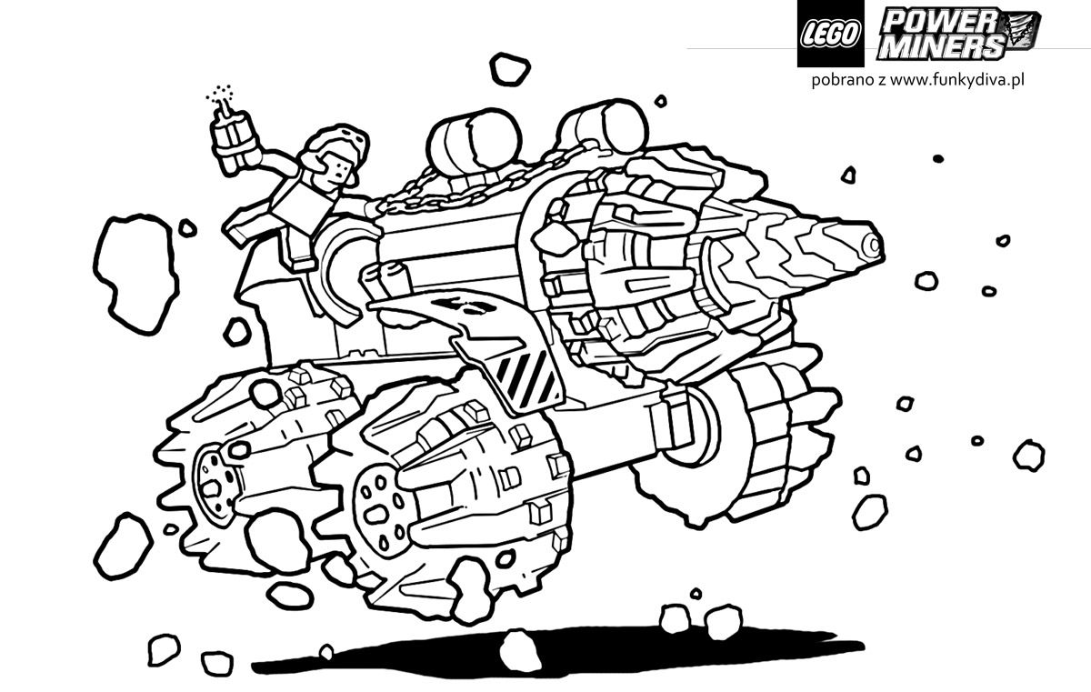 Free Coloring Pages Lego Hero Factory