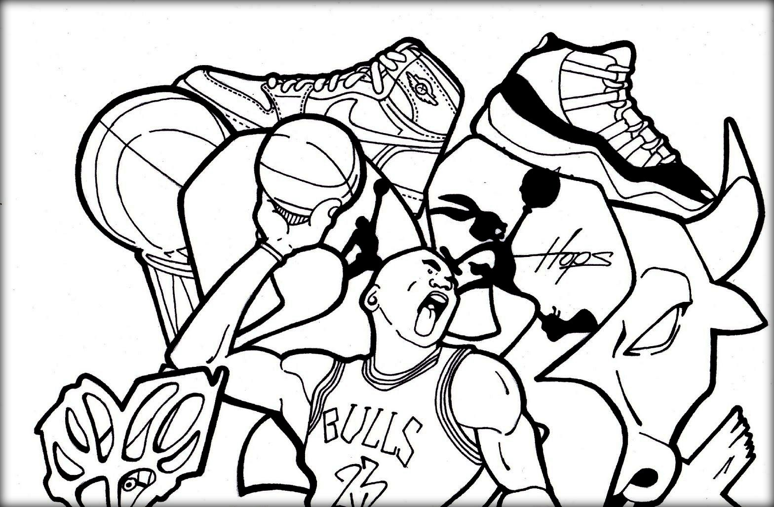Coloring Pages Of Jordan Shoes - Coloring Kids