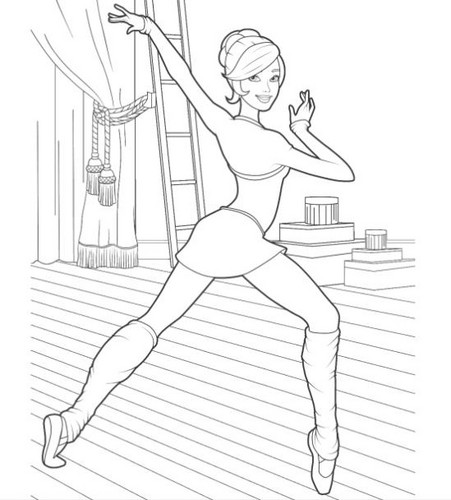 Barbie In The Pink Shoes Images Coloring Pages