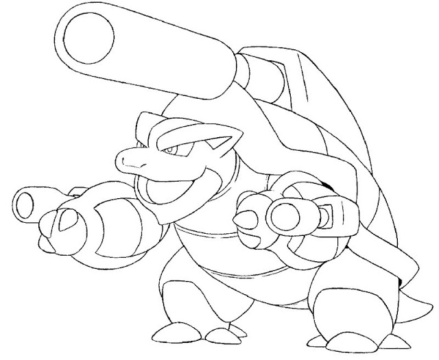 Pokemon Coloring Pages Blastoise Coloring Pictures Coolagenet