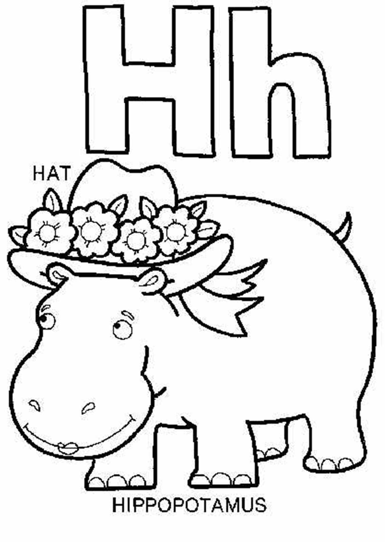 H Coloring Pages : Alphabet Coloring Page Valentine Letter ...