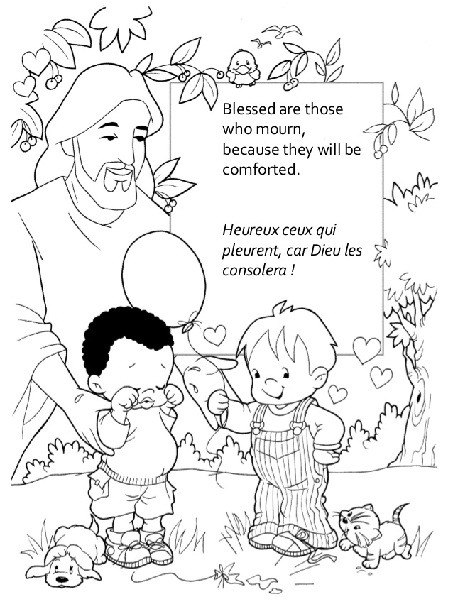 Beatitudes Coloring Pages #10761 - Coloring Home
