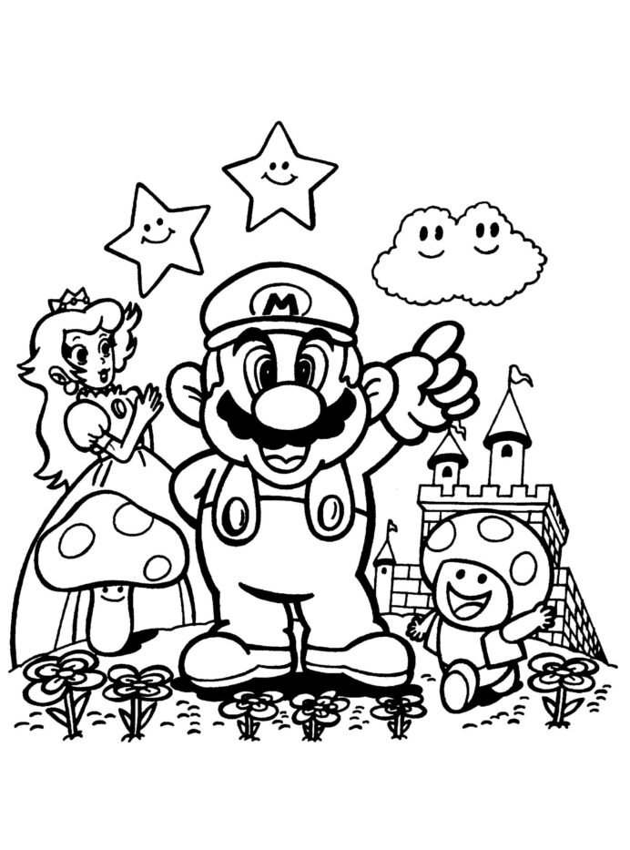 Super Mario Brothers Coloring Book Mario Odyssey Coloring Pages Coloring  Pages Super Mario Odyssey Coloring Mario Odyssey Coloring I Trust Coloring  Pages. - Coloring Home