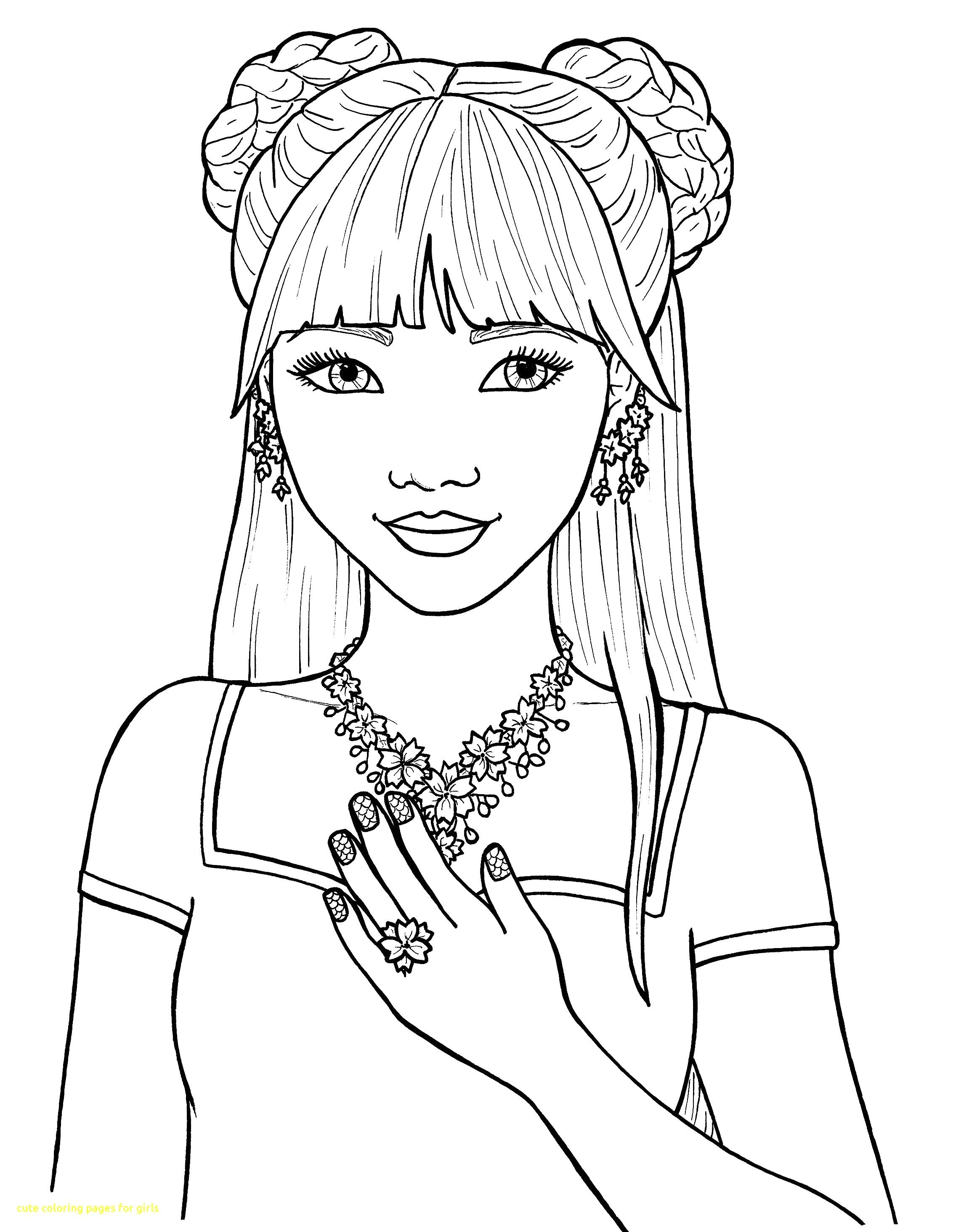 Cute Coloring Pages For Girls With Of Inside Teens Teenage ...