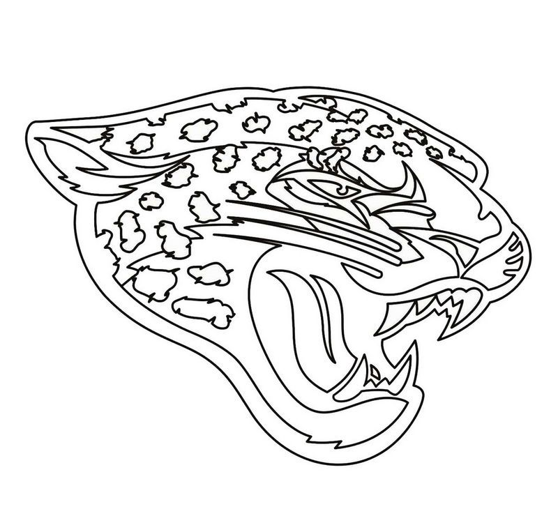 Jacksonville Jaguars Team From Nfl Coloring And Activity Page Sports Coloring Pages Nfl Logo Jaguars Football Coloring Home