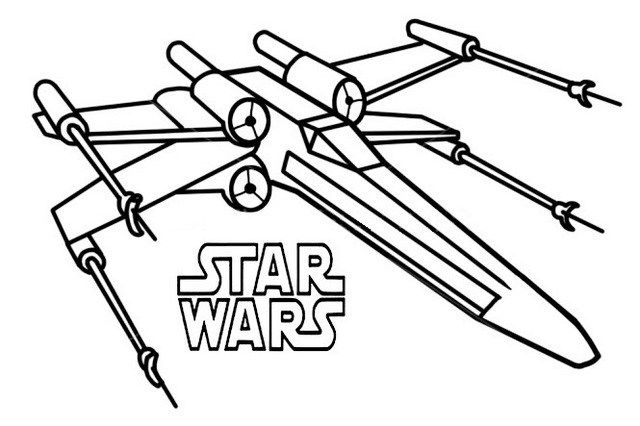 Poe X Wing Fighter Star Wars Coloring Sheet | Star wars coloring sheet,  Star wars drawings, Star wars spaceships