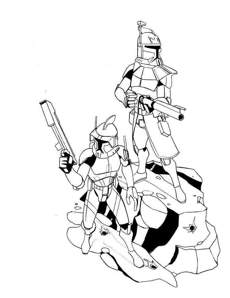 Star Wars Coloring Pages Commander Cody ...pinterest.com