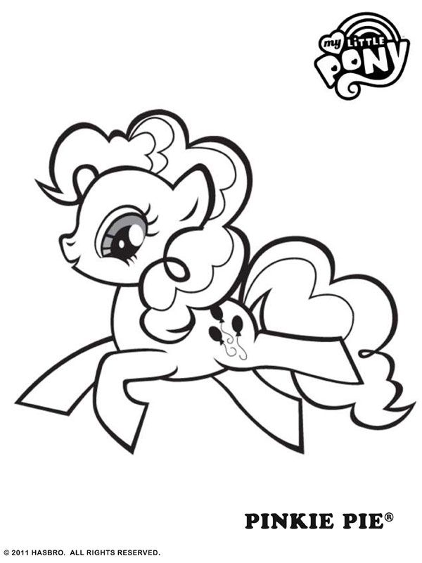 Pinkie Pie Coloring - Coloring Pages for Kids and for Adults