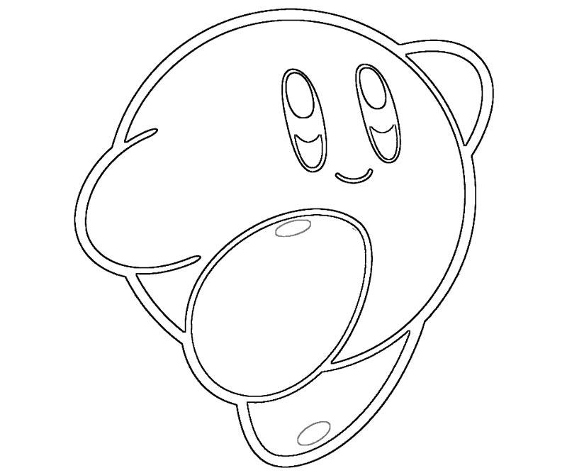 12 Pics Of Crash Kirby Coloring Page Kirby Super Smash Bros Coloring Home
